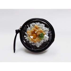 丸型ポーチ:納豆ご飯|fakefoodjapan