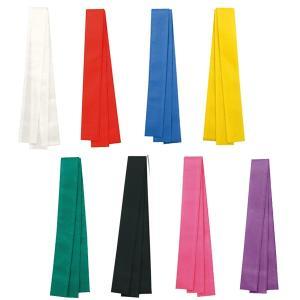 ロングハチマキ(不織布)1個 赤、青、黄、緑、桃、紫、紅白、黒 運動会用品、はちまき