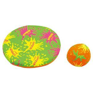 フリスビーとボールの2個組セット サイズ 本体φ130mm、ボール:φ40mm 材質 布、スポンジ
