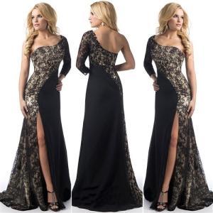 056a3f7f970e2 キャバドレス .ロングドレス 大きなサイズ(XXLサイズ)ワンランク上の超美シルエット セクシーワンショルダーデザインロングドレス