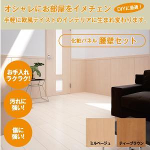 【お取寄品】DIY 化粧パネル腰壁セット 猫の壁ひっかき防止にも|fami-renovation