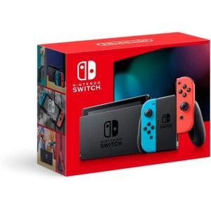 液晶保護フィルム付き(Switch)Nintendo Switch本体 ネオンブルー・ネオンレッド(新モデル)(新品)