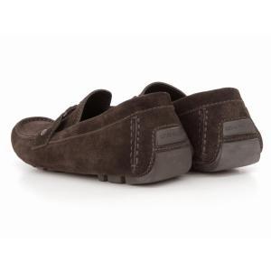 美品 LOUISVUITTON ルイヴィトン スエード ドライビングシューズ ローファー メンズ 革靴 茶 ブラウン 8 1/2 約27.5CM  201 famileys 03