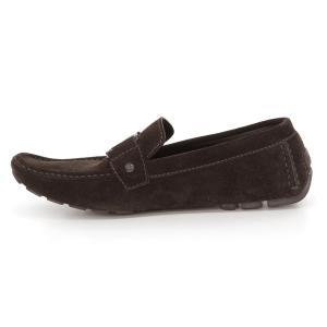美品 LOUISVUITTON ルイヴィトン スエード ドライビングシューズ ローファー メンズ 革靴 茶 ブラウン 8 1/2 約27.5CM  201 famileys 04