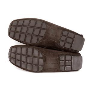 美品 LOUISVUITTON ルイヴィトン スエード ドライビングシューズ ローファー メンズ 革靴 茶 ブラウン 8 1/2 約27.5CM  201 famileys 05