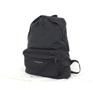 f97029e6bc0a93 美品 BALENCIAGA バレンシアガ オールオーバー リュックサック ロゴ ナイロン 黒 ブラック バックパック メンズ 20190205