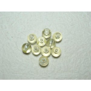 グラスパール淡黄7mm(50個) 手芸や手作りアクセサリー ラッピングに familiamia