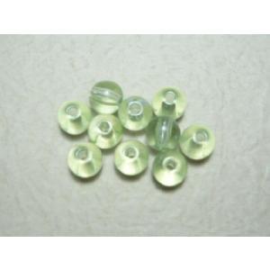 グラスパール淡緑7mm(50個) 手芸や手作りアクセサリー ラッピングに familiamia