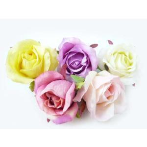 コサージュ&ヘアクリップ2way(1個) 咲きはじめのシングルローズ6580  ヘアーアクセサリーにもなる使いやすい手作りの造花|familiamia