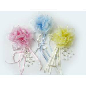 コサージュ&ヘアクリップ2WAY パステルカラー 造花 髪飾り 帯飾り 髪留め ウエディング familiamia