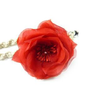 真紅の薔薇のコサージュ|familiamia