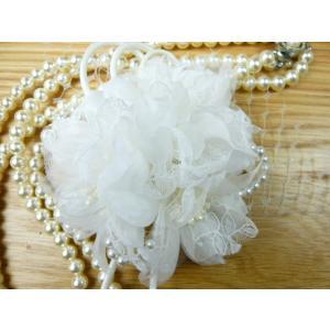 コサージュ&ヘアクリップ2WAY 白いくちなしとパール 造花 フォーマル|familiamia