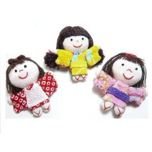 ちりめん細工 可愛い昔の女の子 お人形 和小物 安らぎを与える日本の伝統工芸|familiamia
