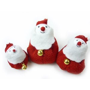 ちりめん細工 サンタクロース やさしいお顔のサンタブラザーズ三兄弟セット 手作りの飾りで楽しむ聖夜|familiamia