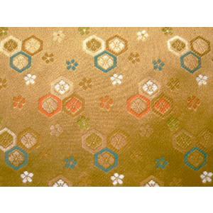 金襴 金襴緞子 豪華絢爛な金襴 亀甲 金茶 004-38(10cm)|familiamia