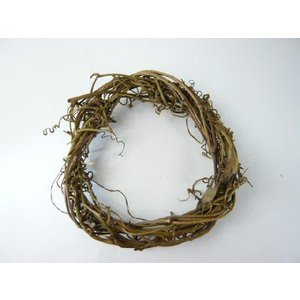 サンキライ ツイストリースN15cm 75981-000(1個) ナチュラル 天然素材 クリスマスの飾り 自然素材|familiamia