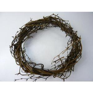 サンキライ ツイストリースN20cm 75982-000(1個) ナチュラル 天然素材 リース クリスマスの飾り 自然素材|familiamia
