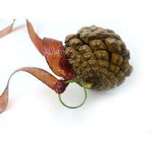 松かさ小(ワイヤー&リボン付)R 松ぼっくり クリスマスの実物 天然素材 familiamia