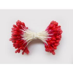 ペップ 花芯 花材 パーツ つまみ細工に 赤つや玉大3号(直径約3mm)(1束144本) 手作り アートフラワー 手芸材料|familiamia