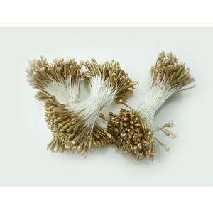 ペップ 花芯 花材 バラ 金(1束) めしべ おしべになる 手作り アートフラワー ラッピング 手芸材料|familiamia