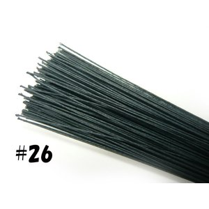 紙巻ワイヤー#26 36cm(200本)  別染黒|familiamia