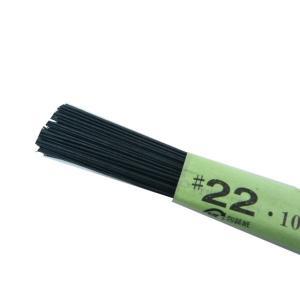 花材 針金 別染 黒紙巻ワイヤー#22 36cm(100本) 黒|familiamia