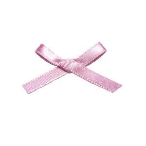 蝶リボン ポリエステルサテン片面4mm 蝶結び ピンク 1個|familiamia