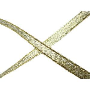 リボン グランドメタル6〜8mm(1m)ゴールド 洋裁 手芸材料|familiamia