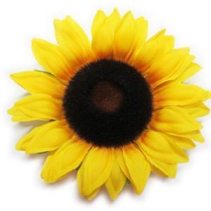 造花 シルクフラワー 大輪のひまわりヘッド FS-8188(1本)RY わくわくの夏の定番|familiamia