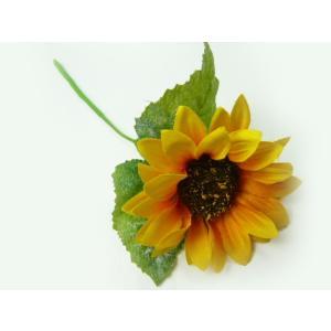 造花 シルクフラワー ショートひまわりFS-8209(1本) 花芯に高級感|familiamia