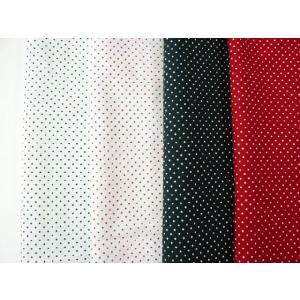 コットン生地 ブロード水玉(小玉)(10cm) 綿 グラニーバック ソーイング コスプレ 巾着 洋裁 舞台衣装|familiamia