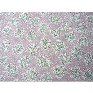 コットン生地 綿60ヴィンテージフィールプリント グレイッシュピンク花束(10cm) グラニーバック 洋裁|familiamia