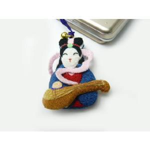 携帯ストラップ ちりめん 七福神弁財天 日本の縁起物 和小物|familiamia