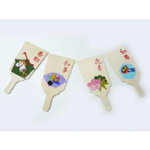 アウトレットお正月飾り 羽子板(1枚) 初春を祝う小さなインテリア雑貨|familiamia