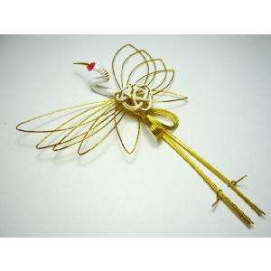 お正月飾り 水引細工 鶴大 3050-2 祝儀袋にも用いる伝統工芸 迎春飾り|familiamia