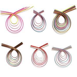 お正月飾り 水引細工 カラフルリング(10個入) 水引リース 祝儀袋にも用いる伝統工芸 迎春和飾り|familiamia