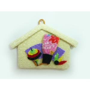 お正月飾りパーツ ちりめん細工 絵馬 羽子板(1個)|familiamia