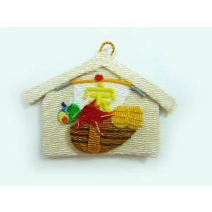 お正月飾りパーツ ちりめん細工 絵馬 宝船(1個)|familiamia