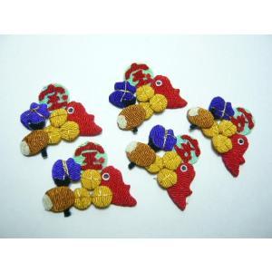 ちりめん細工 宝船のお宝 100個入り お正月のラッピングに重宝する可愛い小物|familiamia