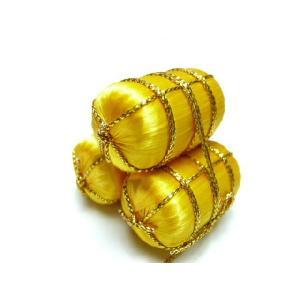 お正月飾り 俵三個組20mm小 サテンボール 伝統の縁起物 和小物で華やかに新春を祝う|familiamia