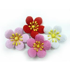お正月飾り ひな祭り ちりめん細工 桃の花(1個) familiamia