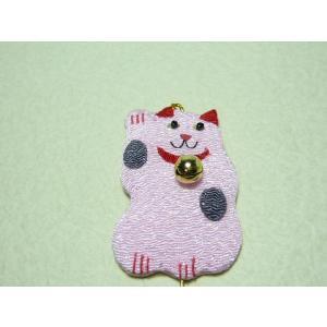ちりめん細工 招き猫大ピンク|familiamia