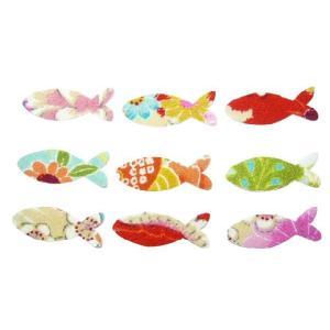 ちりめんシール 一越古代花柄 魚(10枚)|familiamia