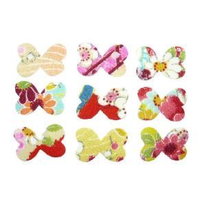 ちりめんシール 一越古代花柄 蝶(10枚)|familiamia