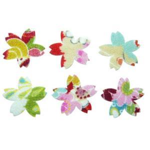 ちりめんシール 一越古代花柄 桜(10枚)|familiamia