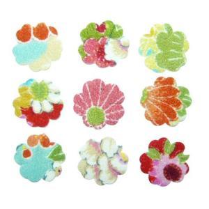 ちりめんシール 一越古代花柄 プリム(10枚)|familiamia