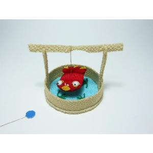 ちりめん細工 金魚と桶(立体) インテリアになる可愛い小物 familiamia