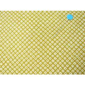 ちりめん 生地 一越 友禅 疋田絞り からし色N1-5 10cm  髪飾りやつまみ細工に レーヨン 縮緬 はぎれ 和布|familiamia