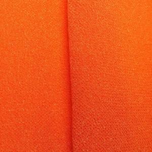 ちりめん・はぎれ◆つまみ細工 一越 生地 無地 オレンジ2 (幅34cm)の写真
