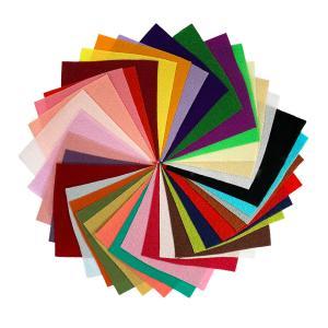 ちりめん はぎれ セット 一越 無地 30枚  10cm×10cm (小さいサイズ) 色の一覧表付き  髪飾りやつまみ細工に レーヨン 縮緬 生地 和布|familiamia